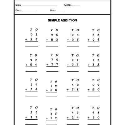 Simple Addition  Free Maths Worksheets  Division