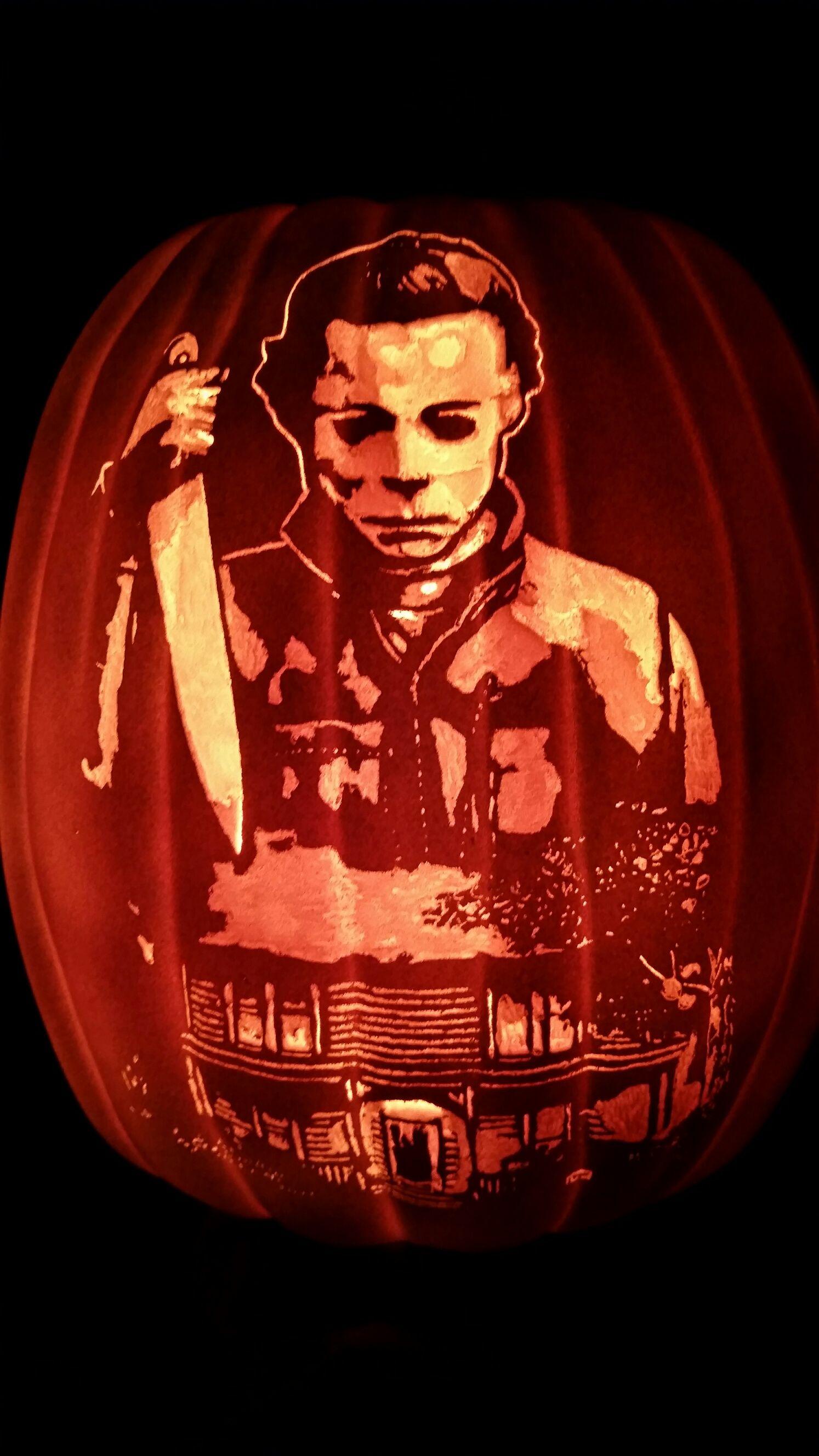 Michael Myers Halloween pumpkins, Halloween pumpkins