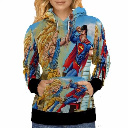 69.99$  Buy here - http://vioam.justgood.pw/vig/item.php?t=ctz8a665360 - Super Saiyan Goku VS Superman Hoodie For Women Size S