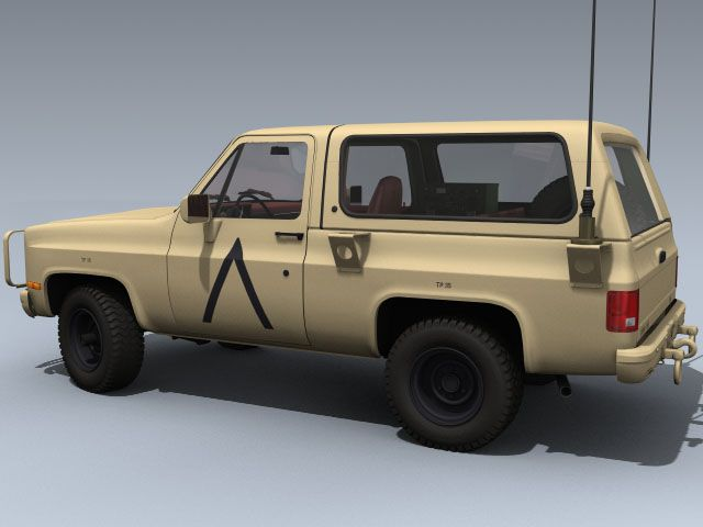 M1009 Cucv Us Desert Model 3dsmax Max 3ds Maya Lightwave Lwo Obj Fbx Offroad Trucks Deserts Motor Truck