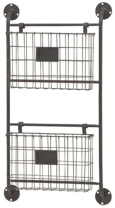 Cole Grey 8 X 10 X 6 Metal Wall Storage Rack Baskets On Wall Metal Wall Basket Wall Organization