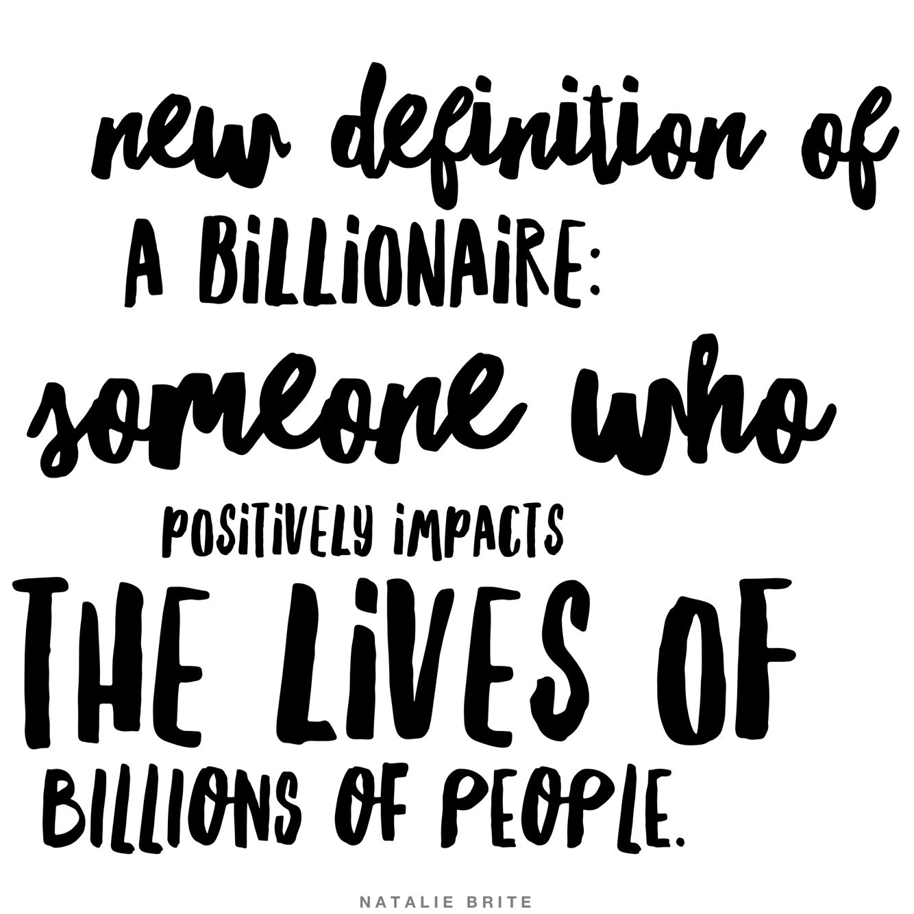 New Definition Of A Billionaire