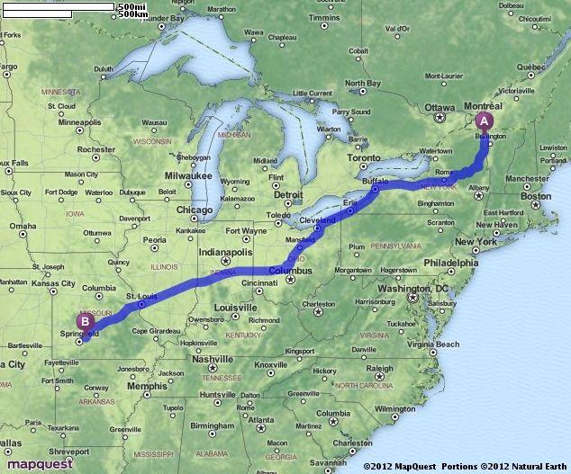 Driving Directions Map Burlington Wisconsin Timmins Wausau