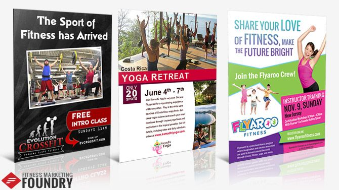 Fitness Flyer Templates for Yoga Instructors, Health Coaches - fitness flyer template