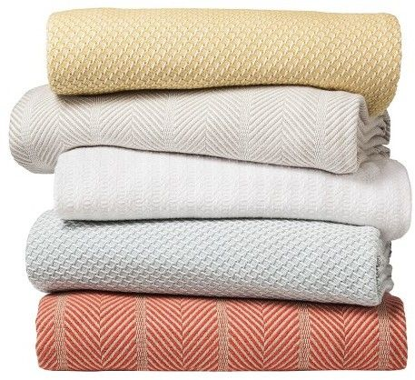 Threshold Solid Cotton Blanket White