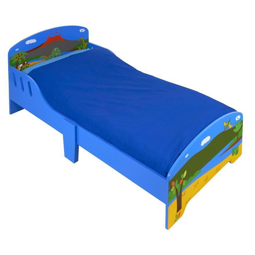 Dinosaur Wooden Toddler Bed £49.99 With Free Delivery   Bargains ...