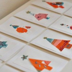 Painted Artwork Christmas Cards