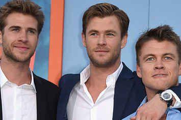 All Three Hemsworth Brothers Were Together Last Night And Oh My God Hemsworth Brothers Luke Hemsworth Liam Hemsworth