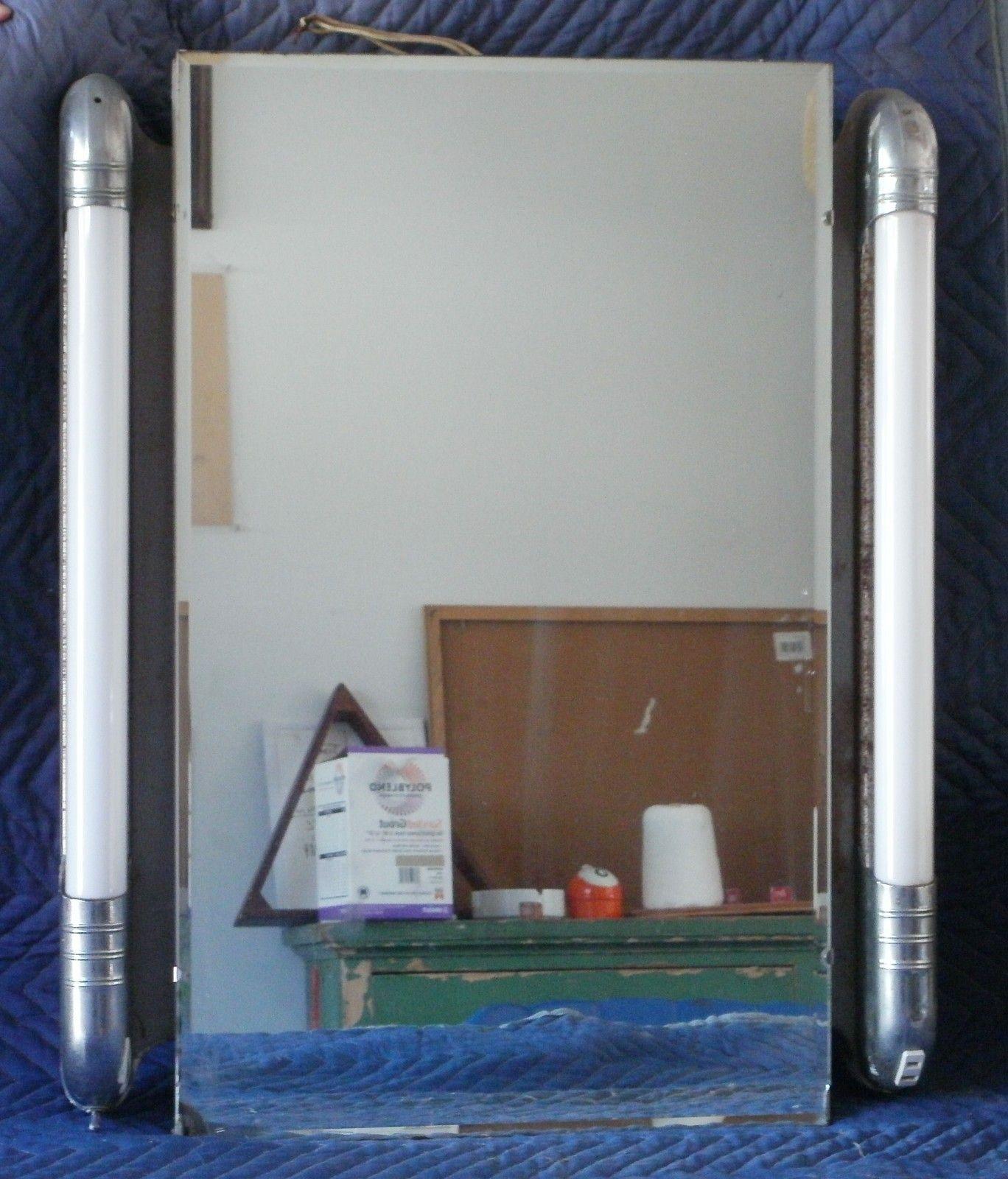 Vintage Art Deco Medicine Cabinet Chrome W Bullet Lights Works Carey Cabinets Ebay Vintage Art Deco Vintage Bathrooms Art Deco