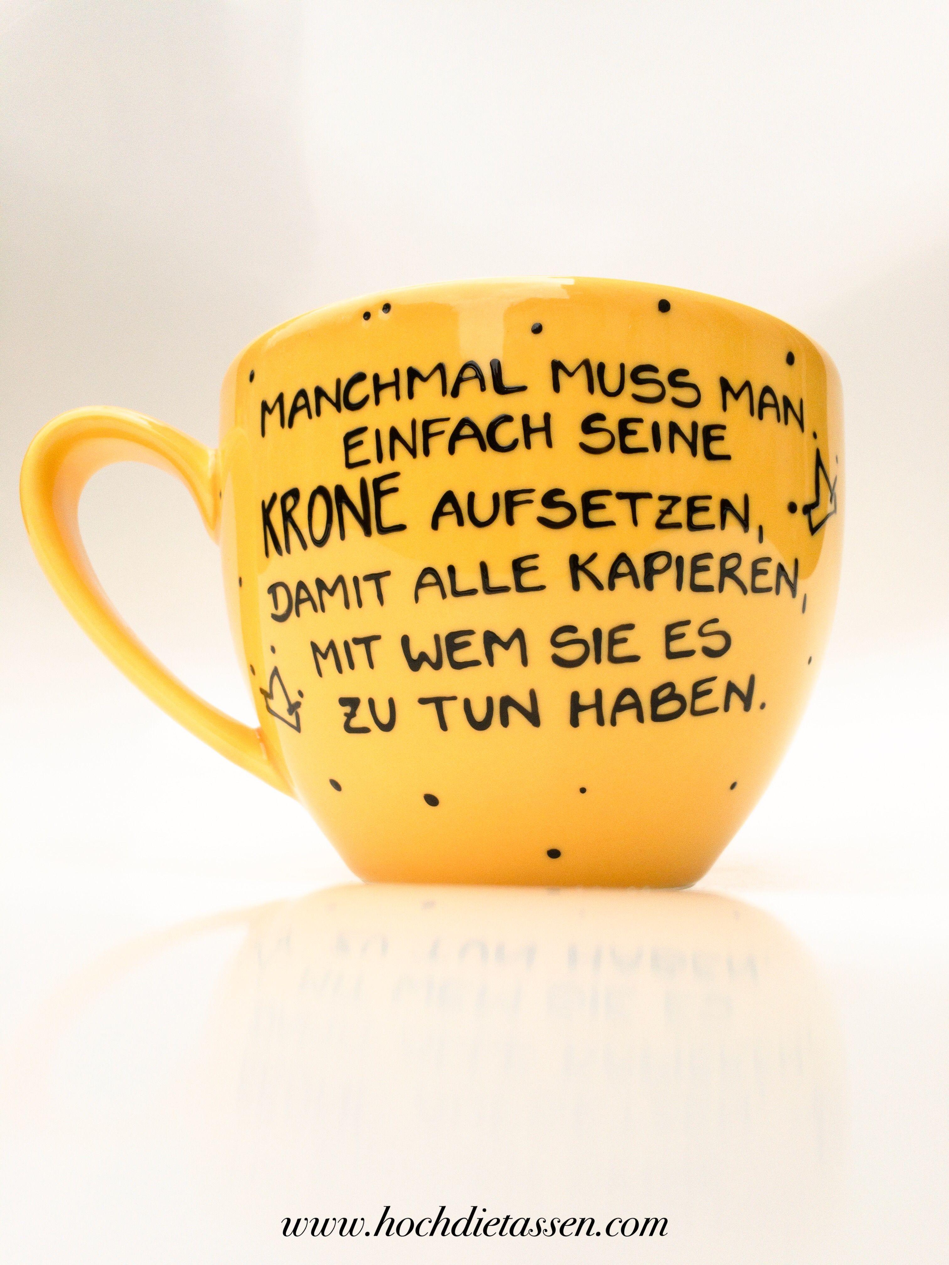 Tasse mit Spruch - Spruchtasse