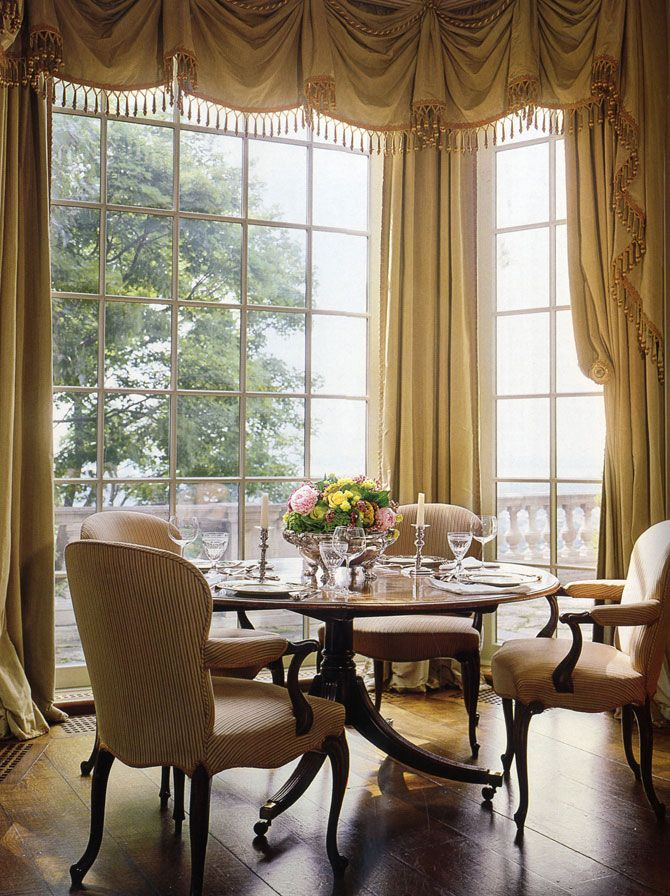 David Easton Interiors Elegant Dining Room Dining Room Curtains Curtains Living Room