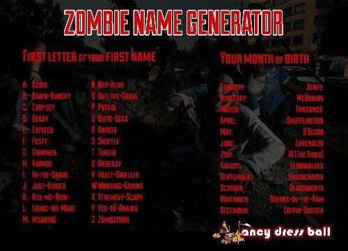 Zombie name generator game   Name Generator game   Name generator