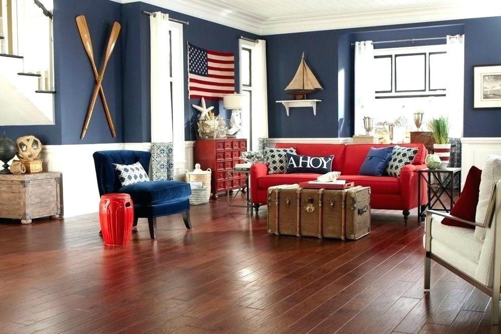 Nautical Themed Living Room Coastal With Images Beach