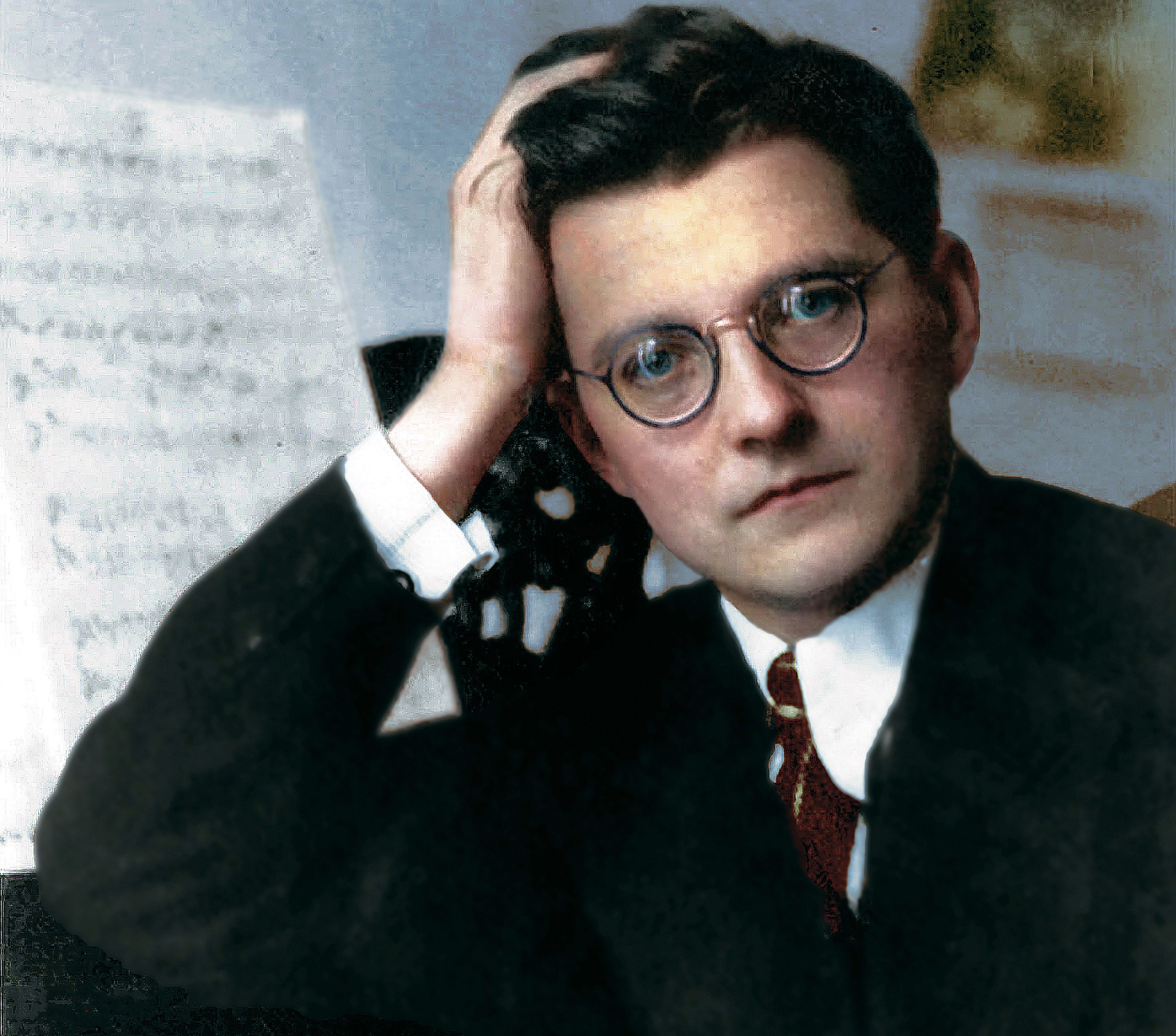 colorized by Klimbim // Shostakovich was a Russian composer