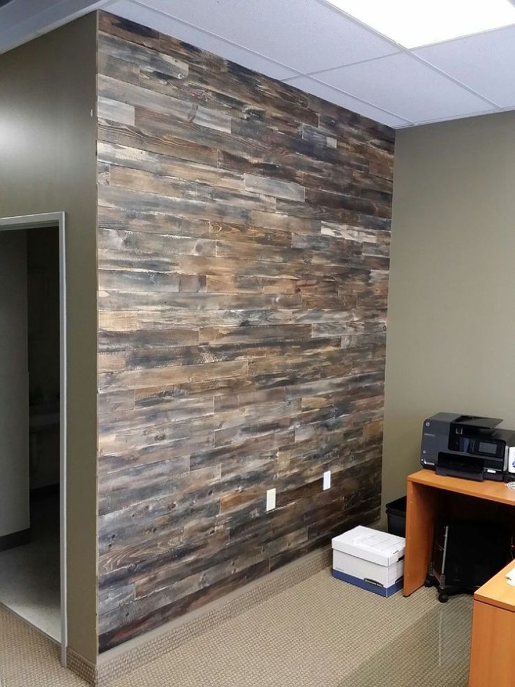 Accent Wall Made With Pallet Wood Yard Pallet Accent