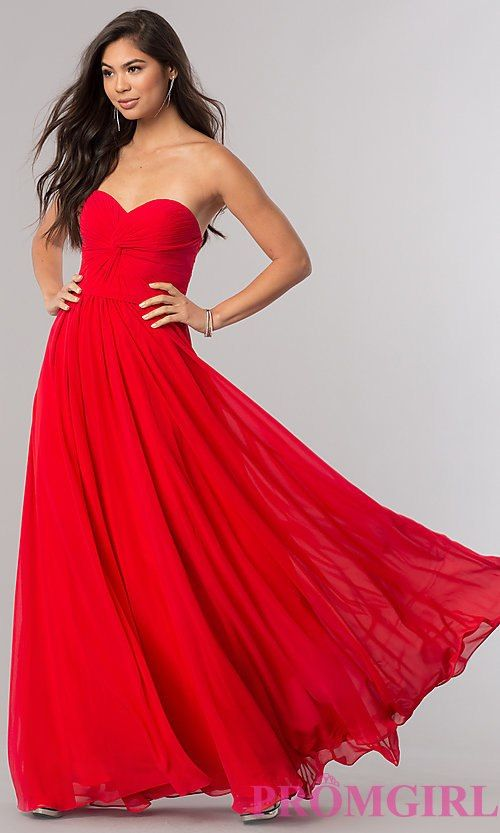 Strapless Prom Dress with Lace Up Back | Fashion | Pinterest ...