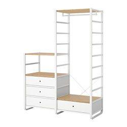 Elvarli 2 Elemente Weiss Bambus Muebles Ikea Room Closet Und