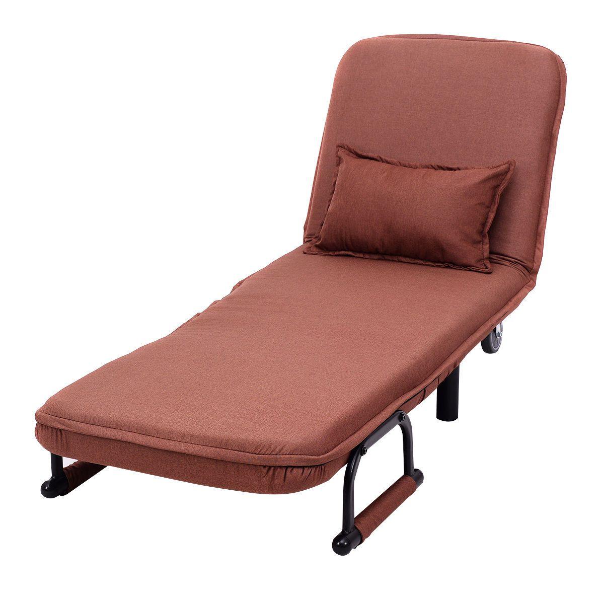 Convertible Folding Leisure Recliner Sofa BedCoffee