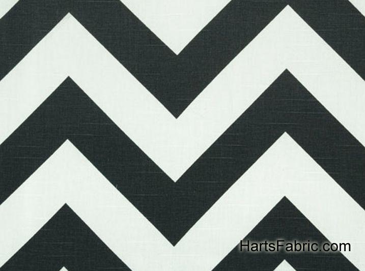 Zippy Zig Zag Chevron Stripe Slub Fabric Ash