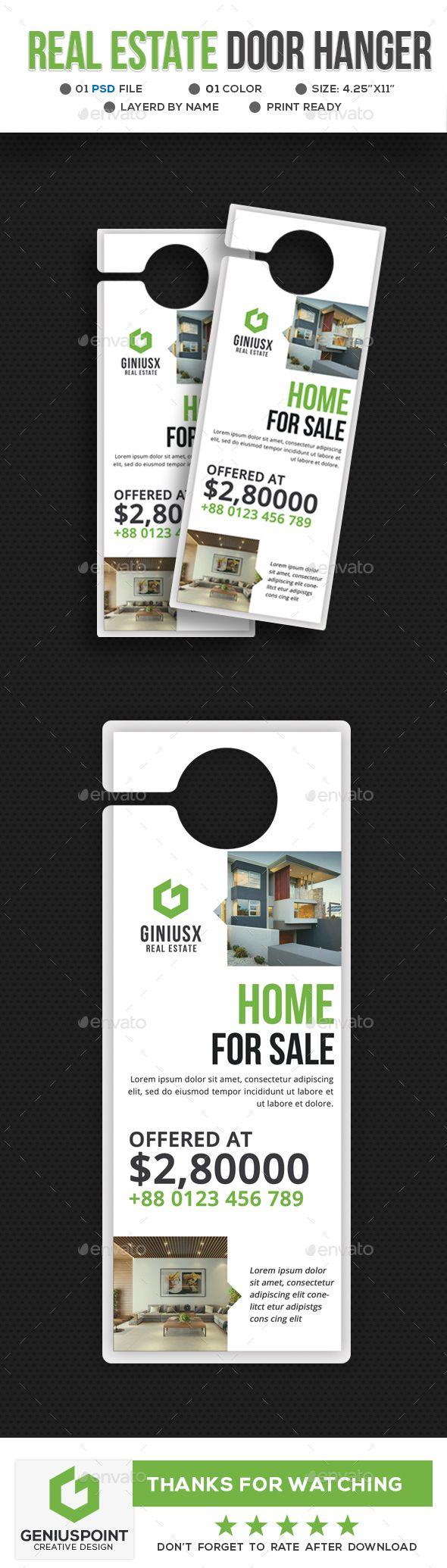 Real Estate Door Hanger | Pinterest | Print templates, Template and ...