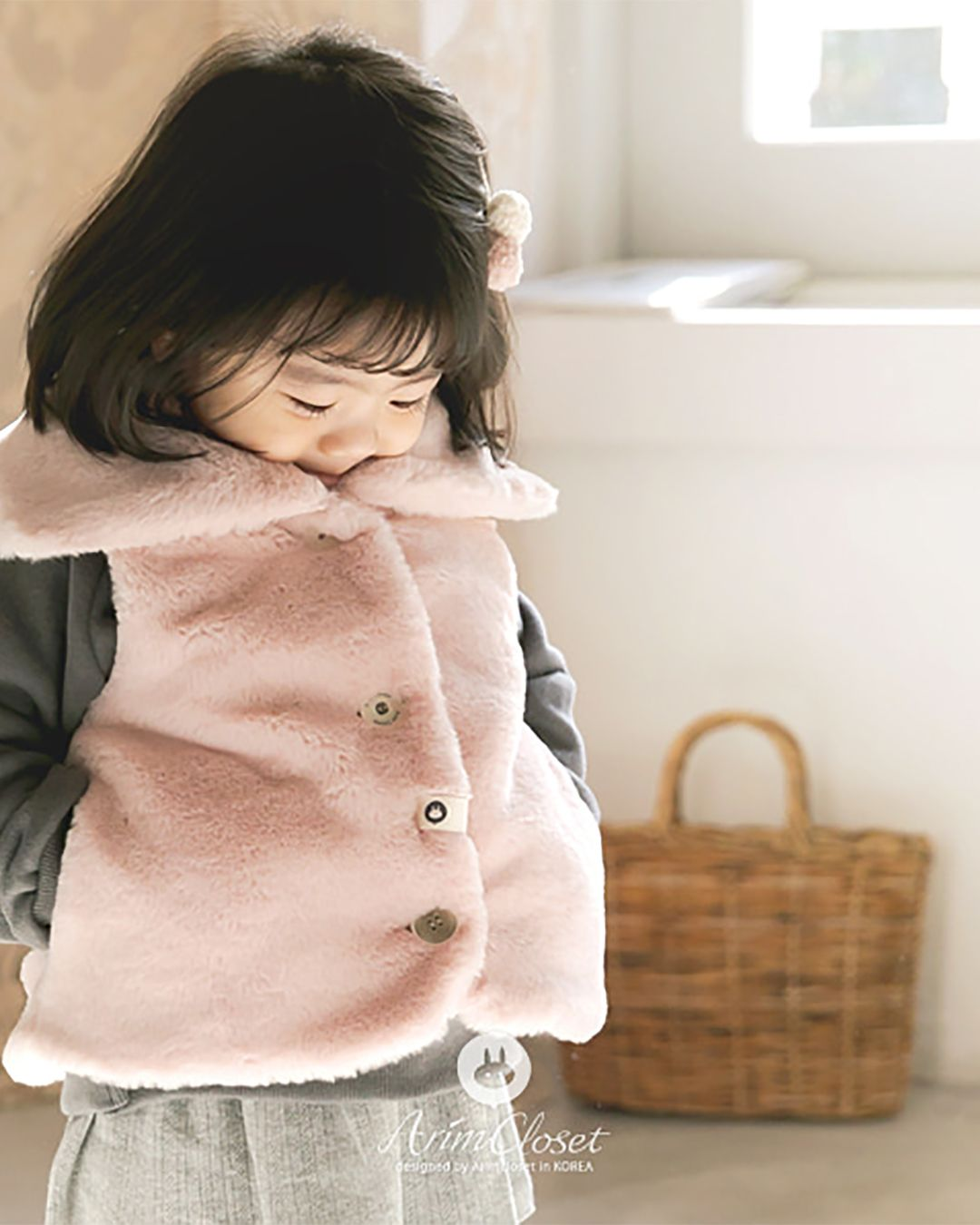 Arim Closet's newest warm, adorable and lovely baby coat