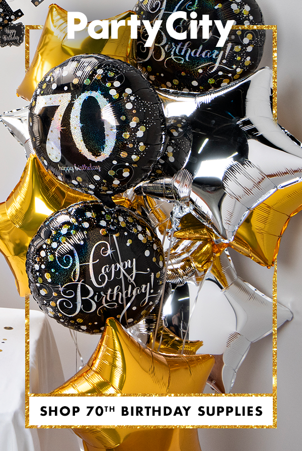 Shop Party City For 70th Birthday Supplies