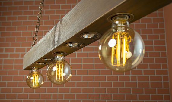Lampade Rustiche In Rame : Rustic lighting reclaimed wood light beam light lighting fixture