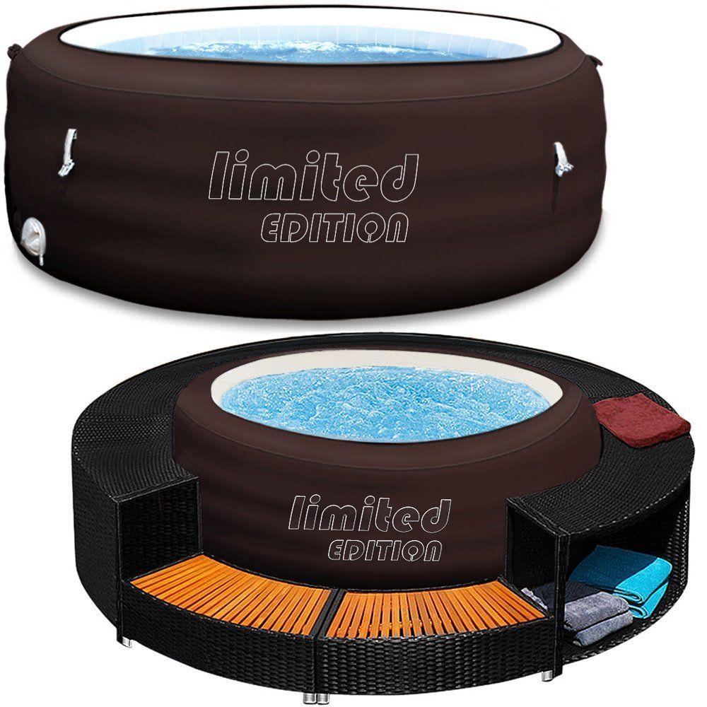 bestway lay-z-spa jacuzzi whirlpool + poolumrandung poolverkleidung