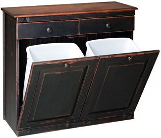 Delightful Kloter Farms  Vintage Pine Double Recycle Bin: Distressed Solid Paint Or  Stain
