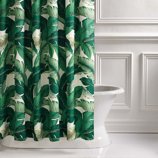 Lanai Palm Shower Curtain Green Shower Curtains Tropical Shower Curtains Shower Curtain
