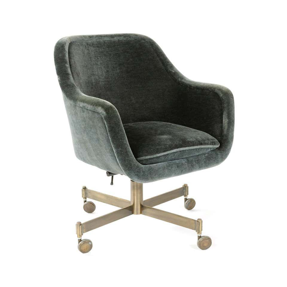 1960s rolling desk chair by ward for brickel