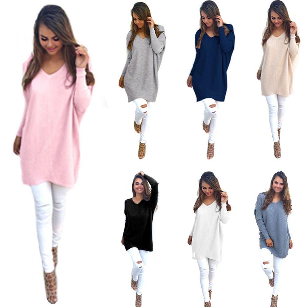 Fashion Womens Summer Long Sleeve Shirt Casual Blouse Loose Cotton Tops T  Shirt ab8b2aff5203