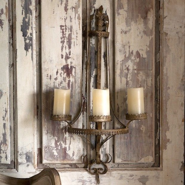 Country Wall Sconce Candle Holder : Filigree Wall Sconce Candle Holder Wall sconces, Walls and Country farmhouse decor
