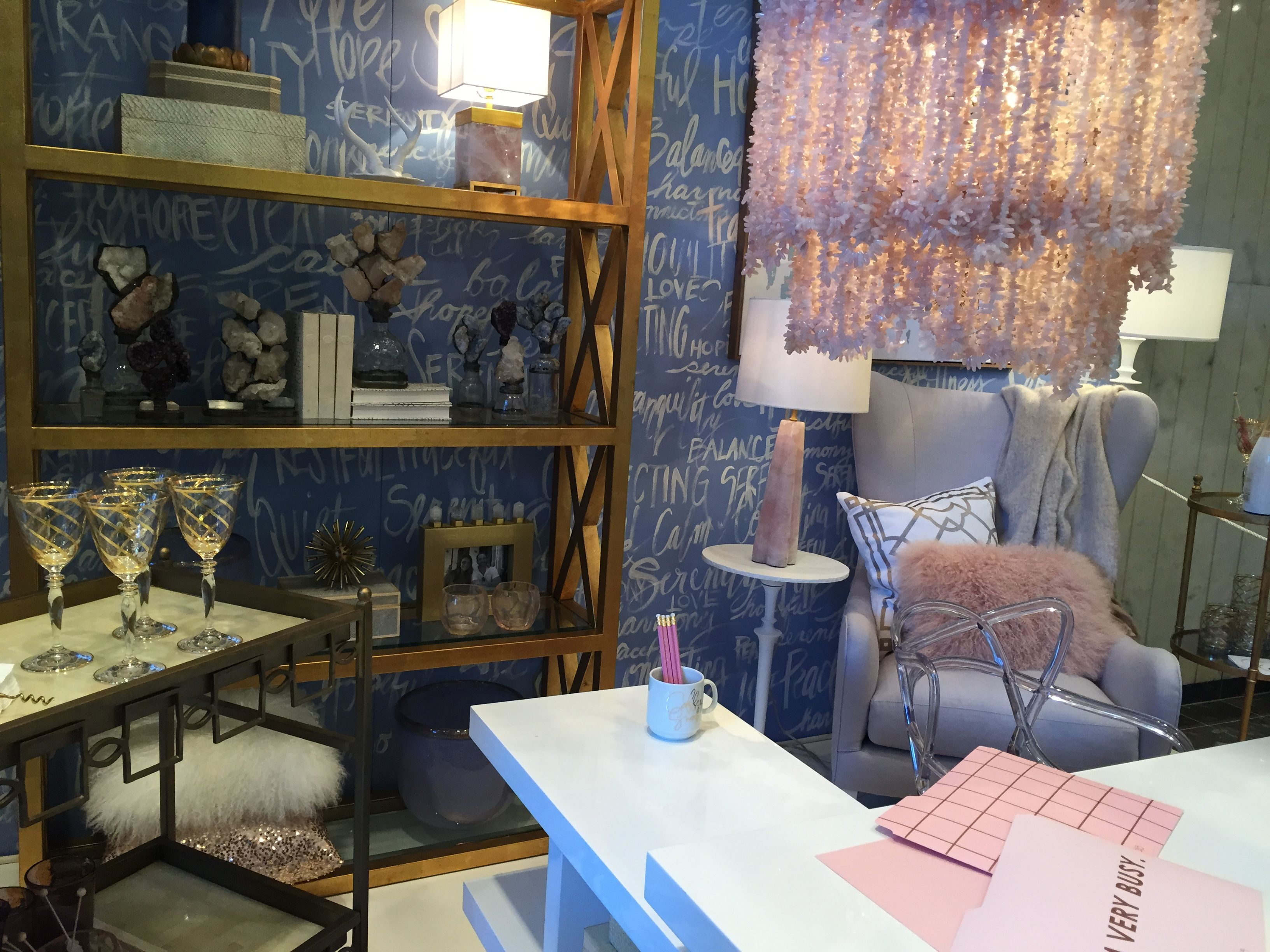 Pantone Color Of The Year Serenity And Rose Quartz At The Home And Furniture  Market In Atlanta.