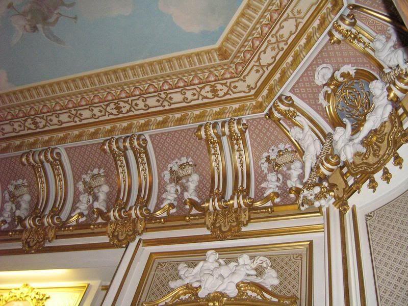 Gold Room Harlaxton Manor Classical Interior Design Ceiling