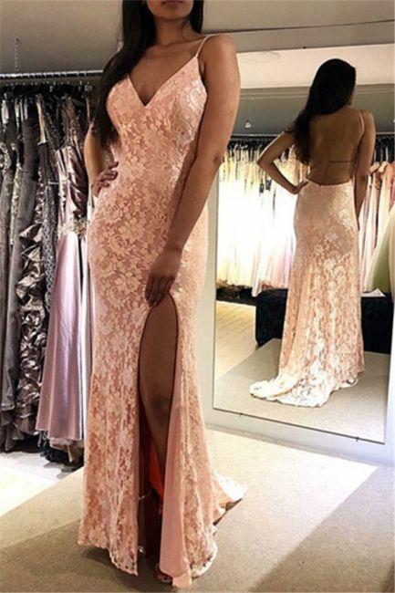 abendkleid lang rosa günstig  abendkleider spitze elegant