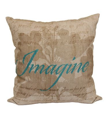 Another Great Find On Zulily Tan French Country 'Imagine' Throw Mesmerizing Brentwood Originals Decorative Pillows And Chair Pads