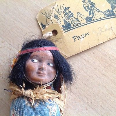 Vintage american indian skookum papoose doll1940sgreetings card vintage american indian skookum papoose doll1940sgreetings card toy doll m4hsunfo