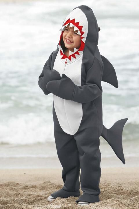 Kids Shark Costume Jaws Children Girls Boys Fancy Dress Fish Under The Sea Party