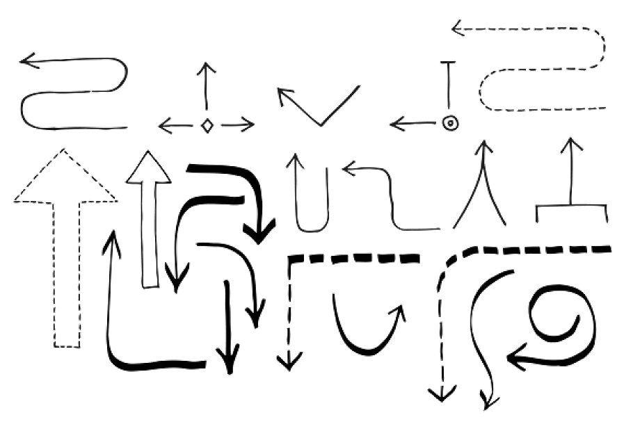Doodle Flowchart Set , #spon, #hard#objects#flowchart#