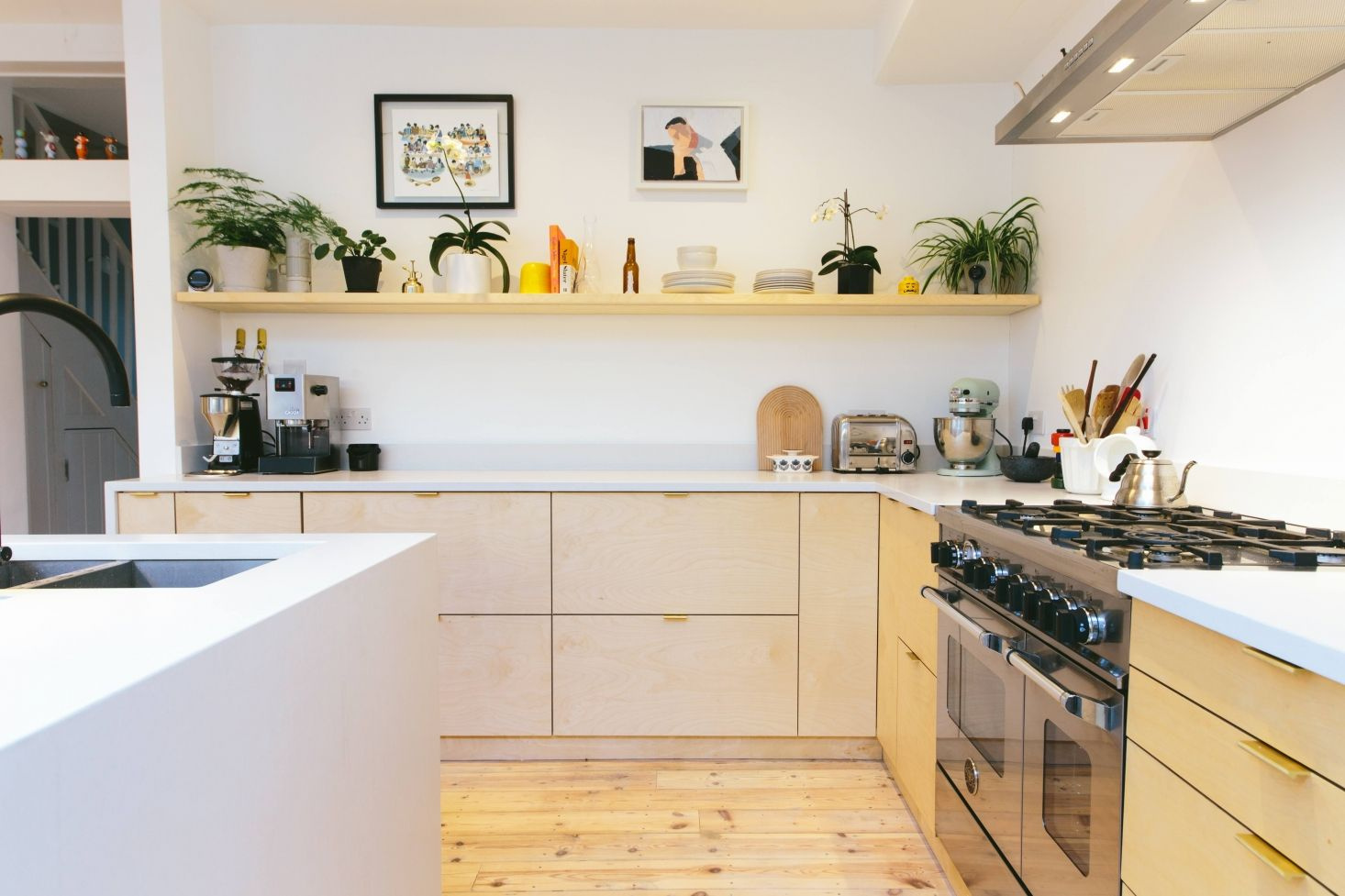 Plykea In London Stylish Plywood Cabinet Fronts And Worktops For Ikea Kitchens Remodelista Plywood Kitchen Ikea Metod Kitchen Kitchen Remodel