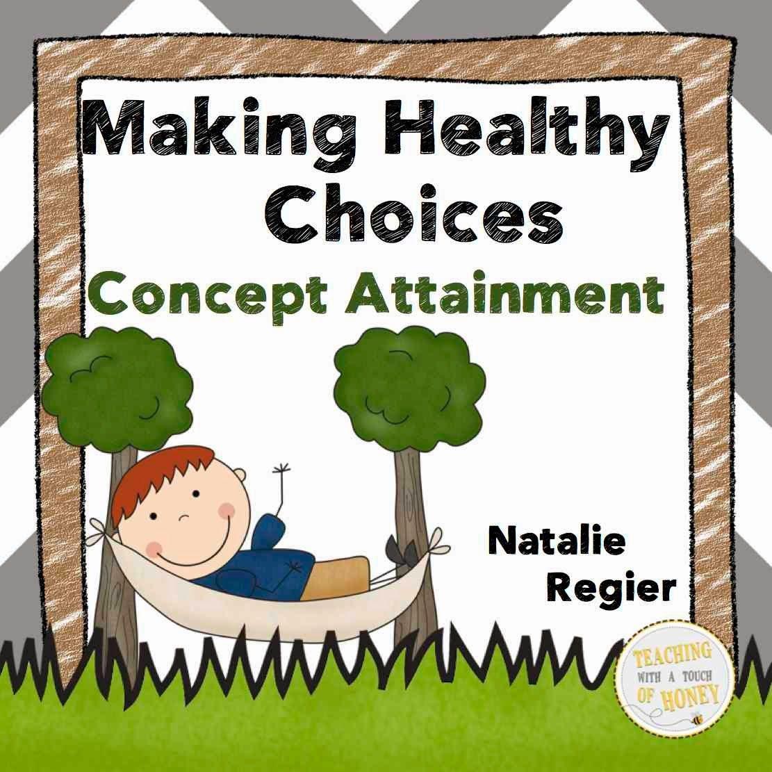 Freebie Making Healthy Choices Concept Attainment Lesson