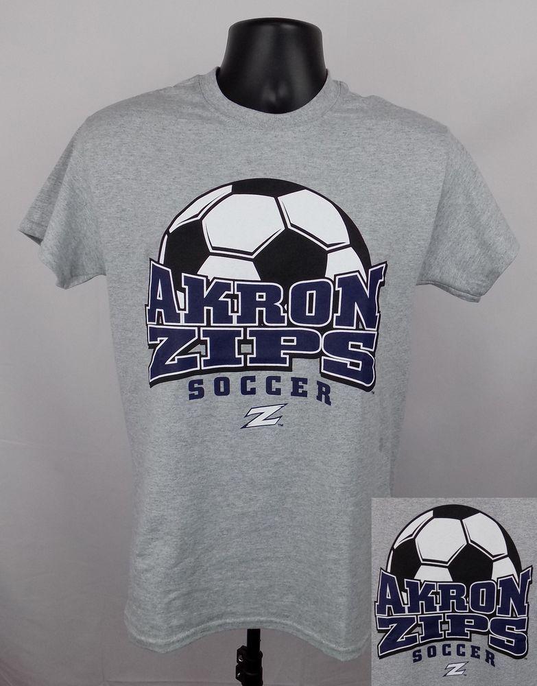 5c8b528203f Akron Zips Soccer Shirt Unisex XL Gray Graphic Logo Adult Shirt New ST04   Gildan  AkronZips