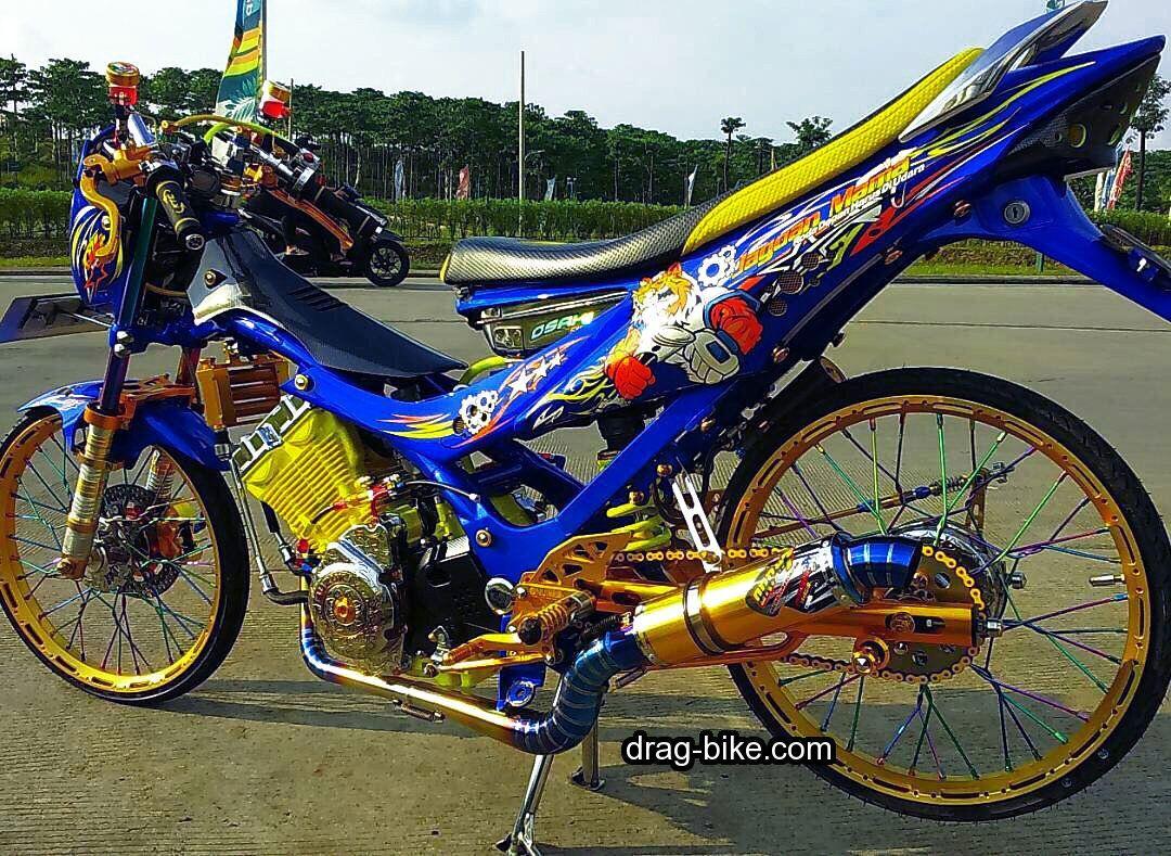 50 Foto Gambar Modifikasi Satria Fu Thailook Terbaik Terkeren Air Brush Kontes Drag Bike Com Motor Drag Racing Gambar