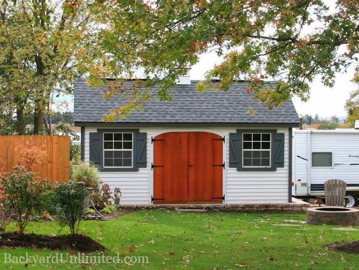Garden Sheds 12x16 12x16 garden shed with vinyl siding, ridge vent, cupola, arched