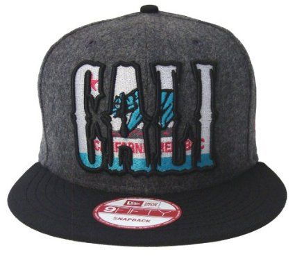 Amazon.com  California Republic New Era Snapback Cap Hat CALI State Fleece  Black  Everything Else 352f847f97f