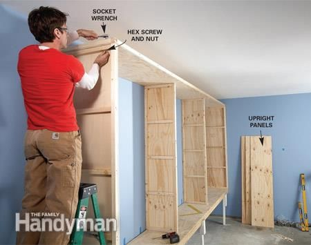 giant diy garage cabinet garage cabinets diy garage on garage organization ideas that will save you space keeping things simple id=32459