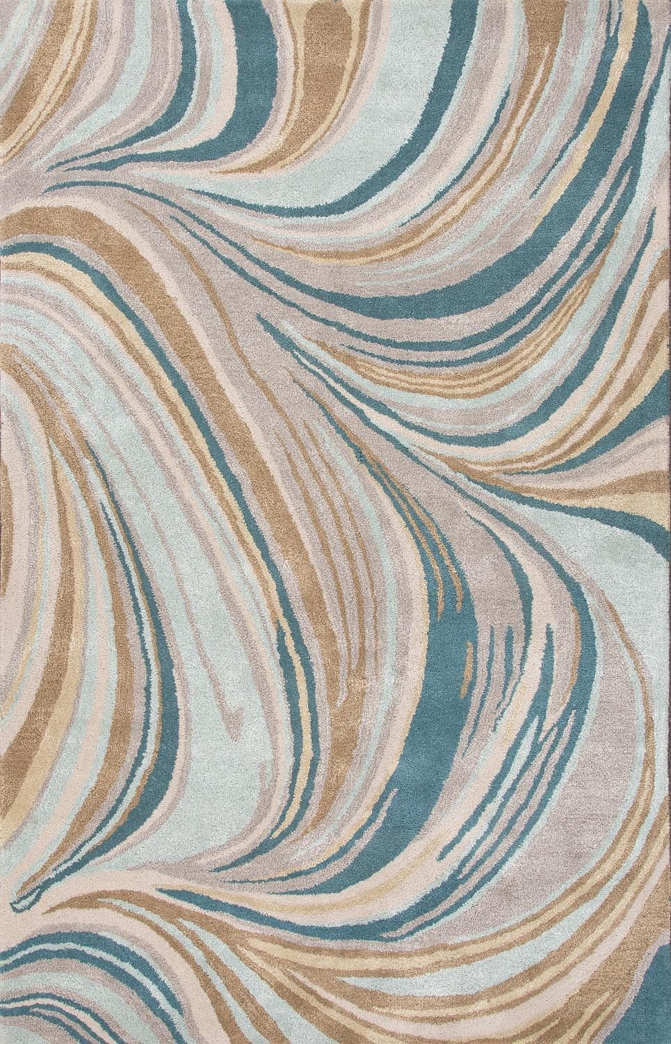 Cascade Blue Tan Abstract Area Rug Abstract Rug Rugs On Carpet Silk Area Rugs