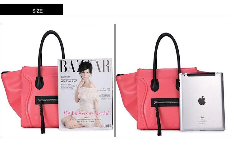 Borsa grande shopping in pelle colore fluo con manici di DUDU - Dudu Bags - Esmeralda leather luggage bag. La nuova borsa di tendenza.
