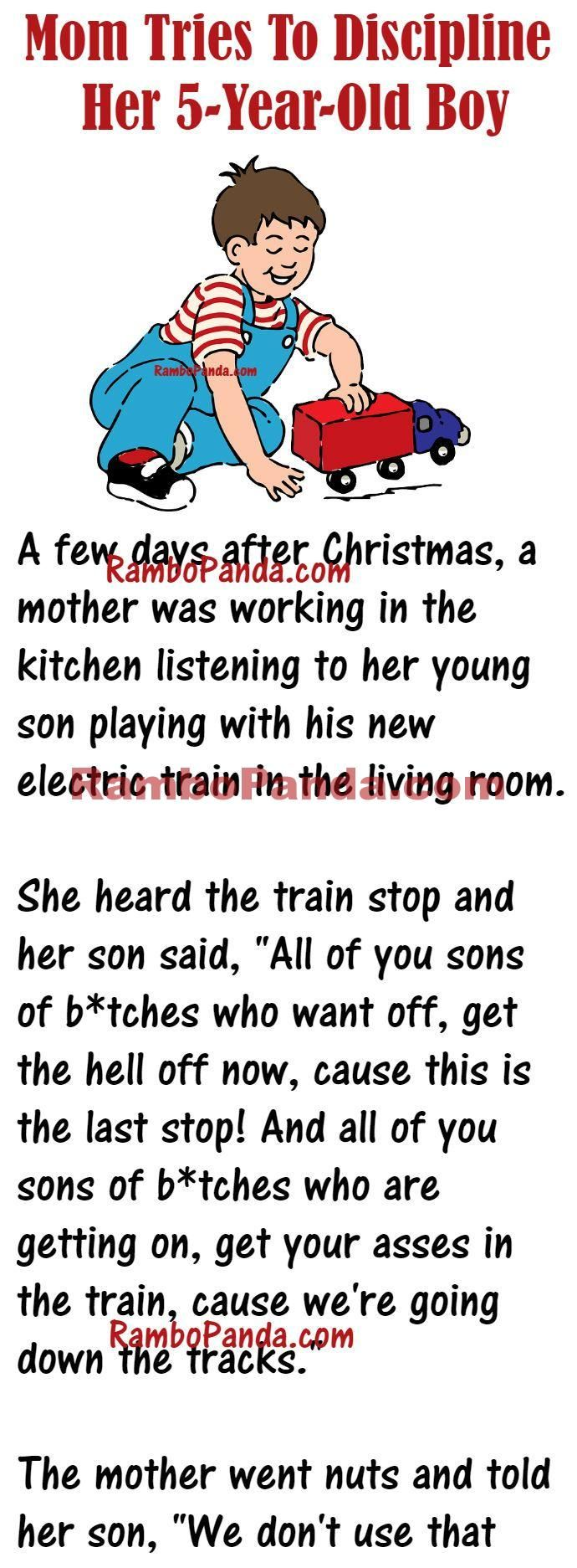 When This Woman Tried To Discipline Her Son Funny Words Funny